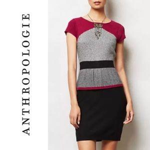Sparrow Knit Peplum Dress Sweater   Anthropologie